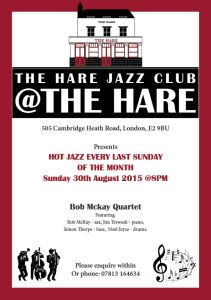 Jazz at the Hare August 2015